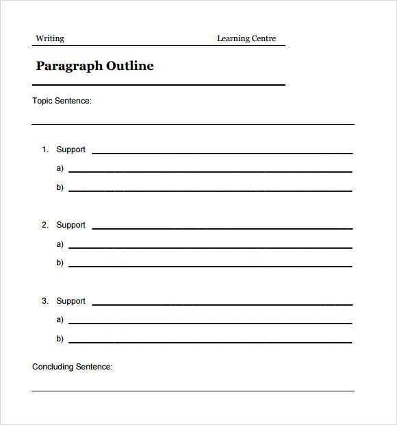 apa format outline template free