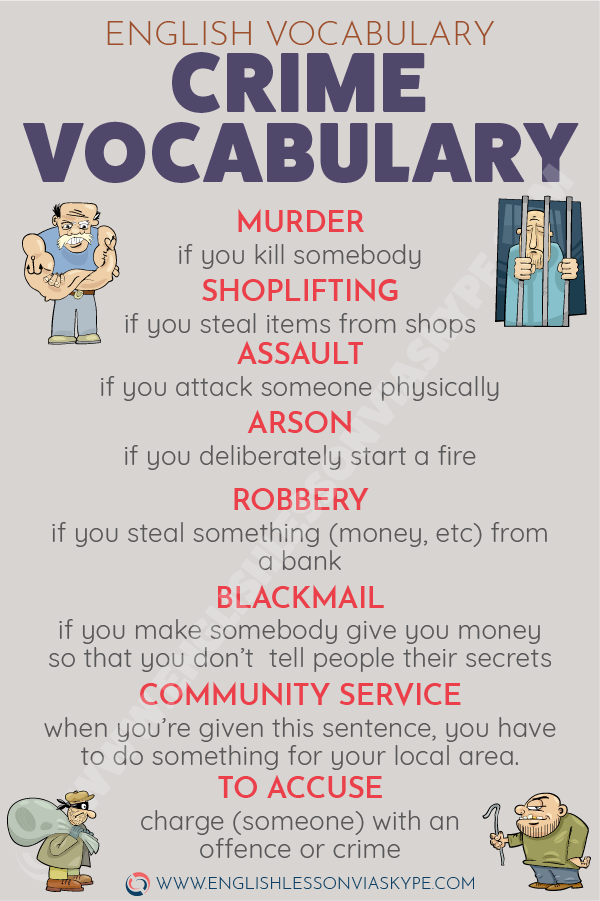 Crime And Punishment Vocabulary Learn English English