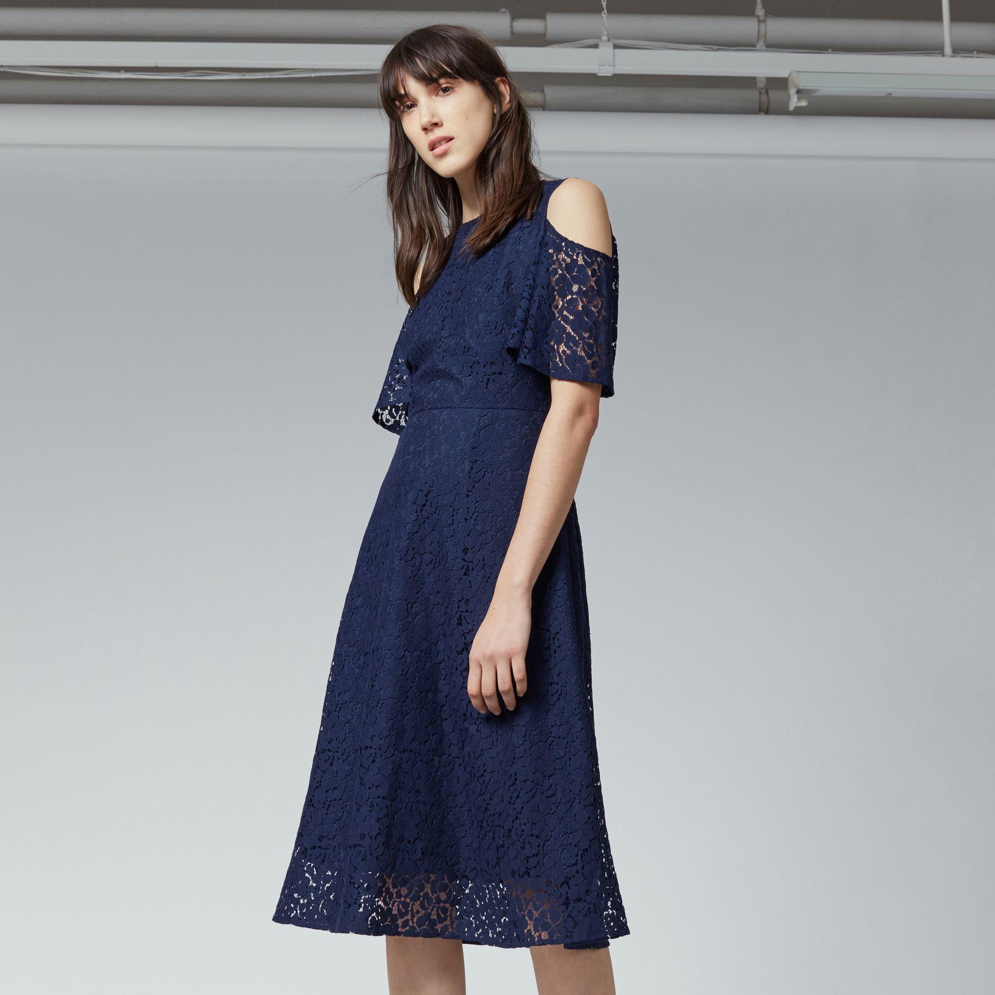 30+ Navy cold shoulder dress ideas