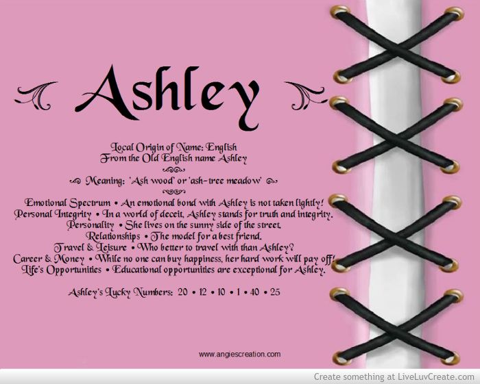 what does the name ashley mean in french