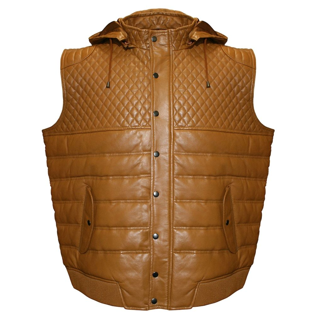 Men/'s Burgundy Stand Up Collar Quilted Waistcoat Lamb Leather Gilet Vest 4330