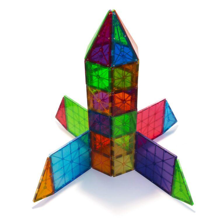 Magna Tiles Clear Colors 100 Piece Magnetic Blocks Set Magna Tiles In 2020 Magna Tiles Unique Kids Toys Magnetic Tiles
