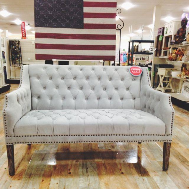 Grey settee