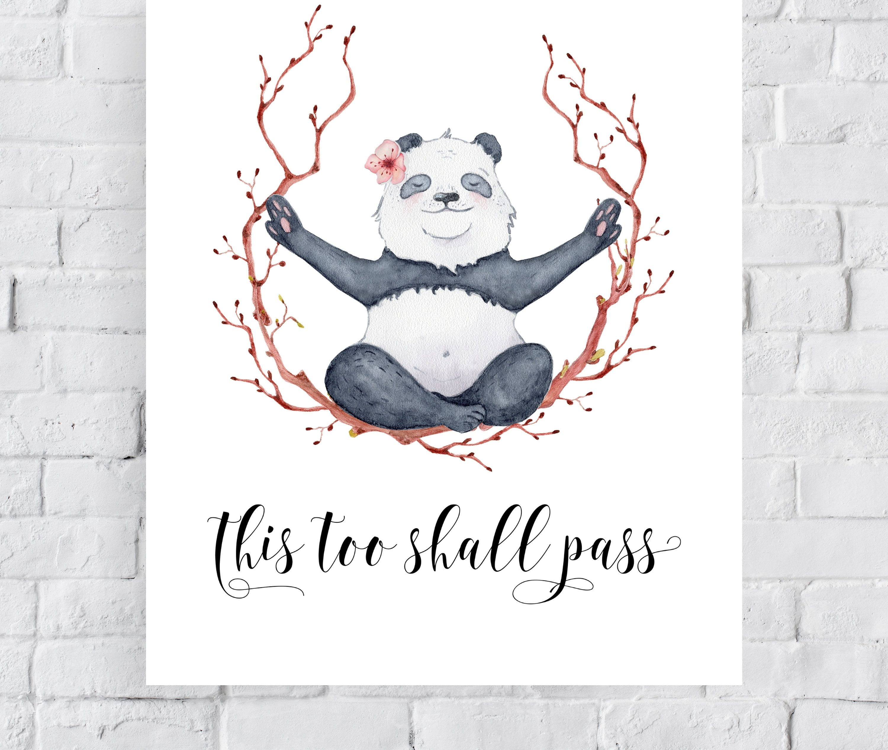 Inspirational Quote Print This Too Shall Pass Quote Wall Art Etsy Wall Art Quotes Quote Prints Passing Quotes