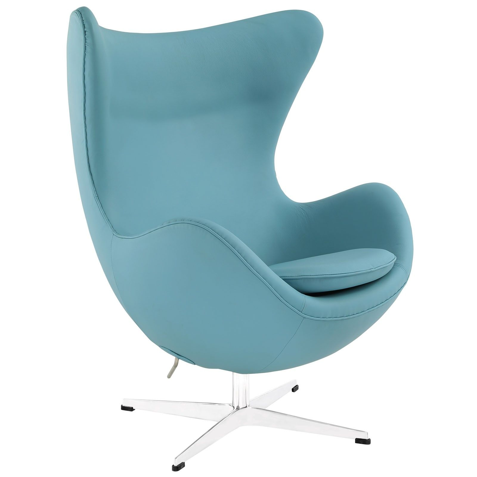 Jacobsen Style Egg Chair in Leather Multiple Colors Materials