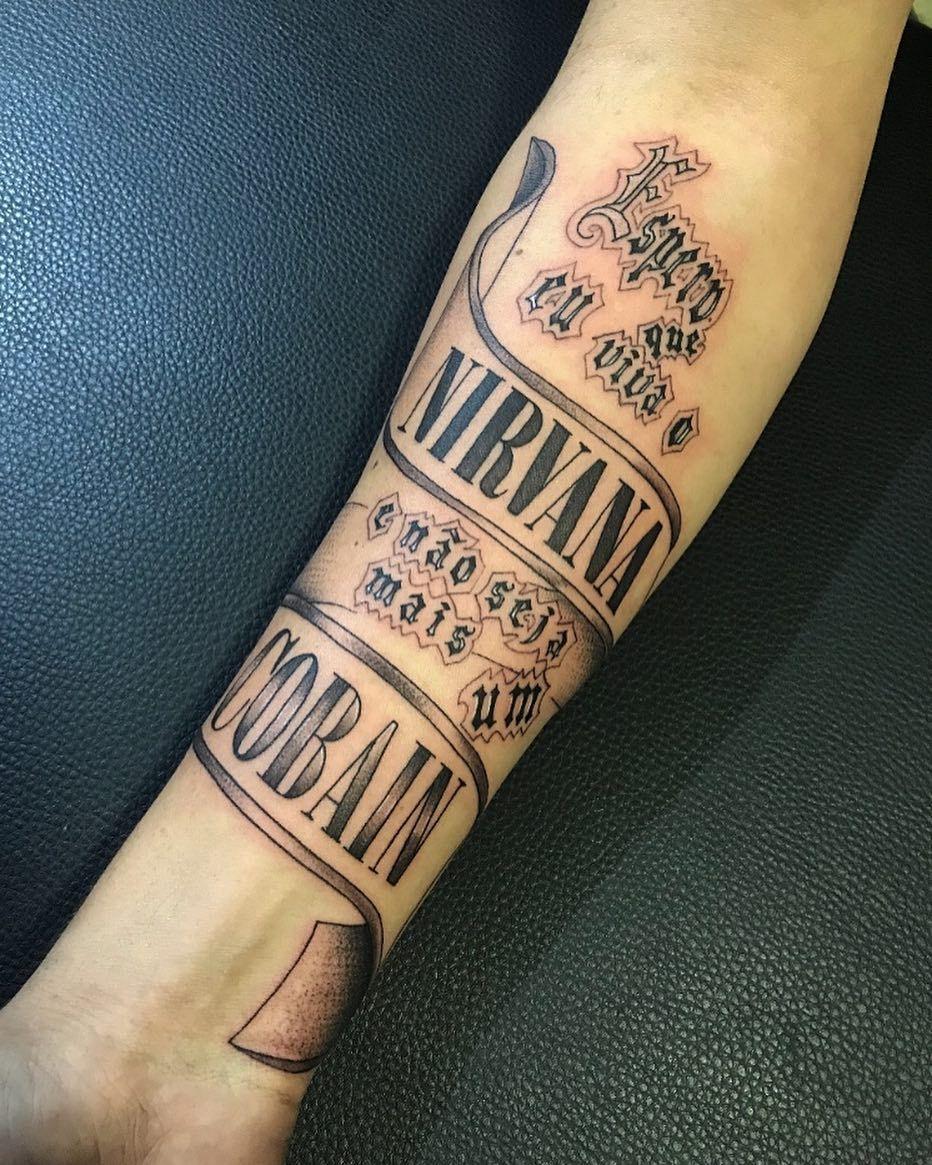 Tatto letra da Música do Duzz Kurt Cobain Ideias de