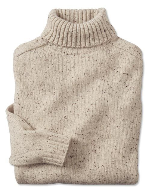 Orvis Wool/Cashmere Donegal Turtleneck Sweater in Natural $179.00 ...