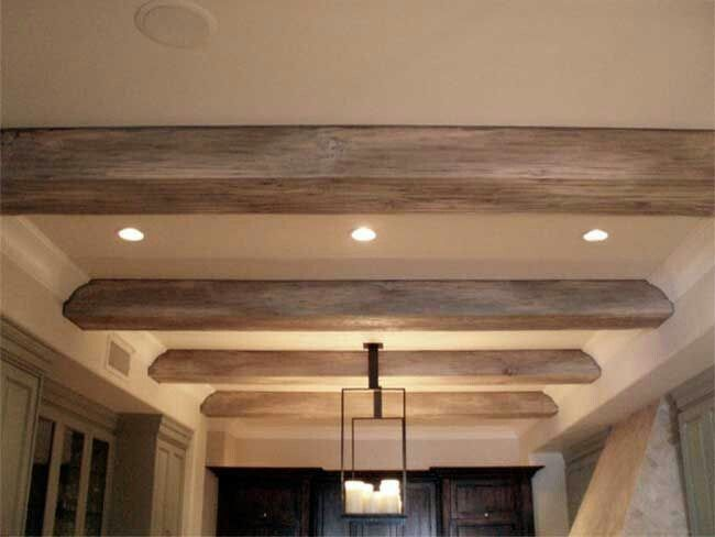 Rustic Beams Can Be Added With The Existing Crown Molding Wood Beam Ceiling Faux Ceiling Beams Ceiling Beams