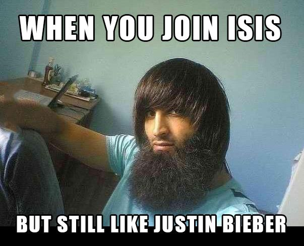 When you join ISIS but still like Justin Bieber.