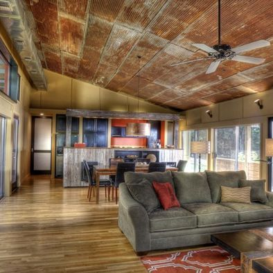 Barn Tin Design Pictures Remodel Decor And Ideas Home House Design Living Room Ceiling