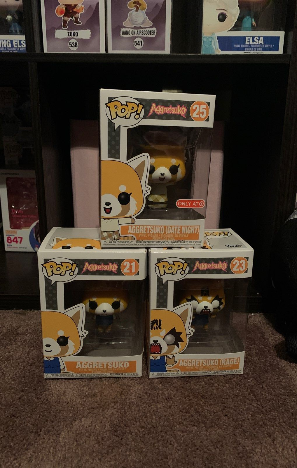 25 Target Exclusive 21 And 23 Funko Pops Of Aggretsuko Wanting To Sell As A Set But Can Split All Have No Damage Things To Sell Aang Zuko