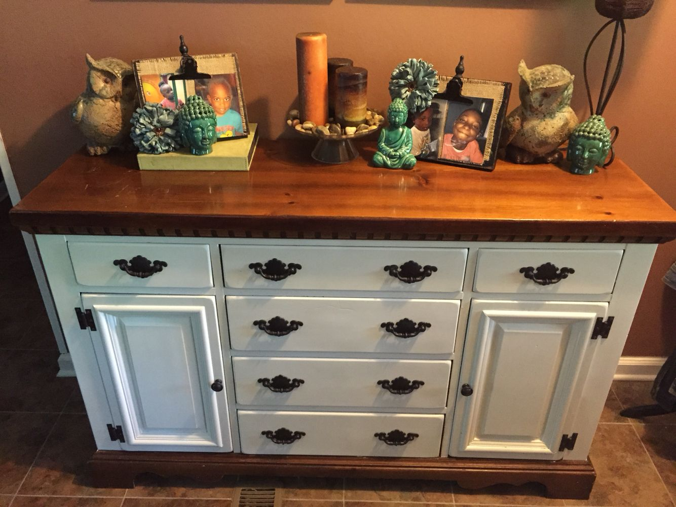 Chalk Painted With Valspar Chalky Finish In Her Dainties Did It Myself Pinterest