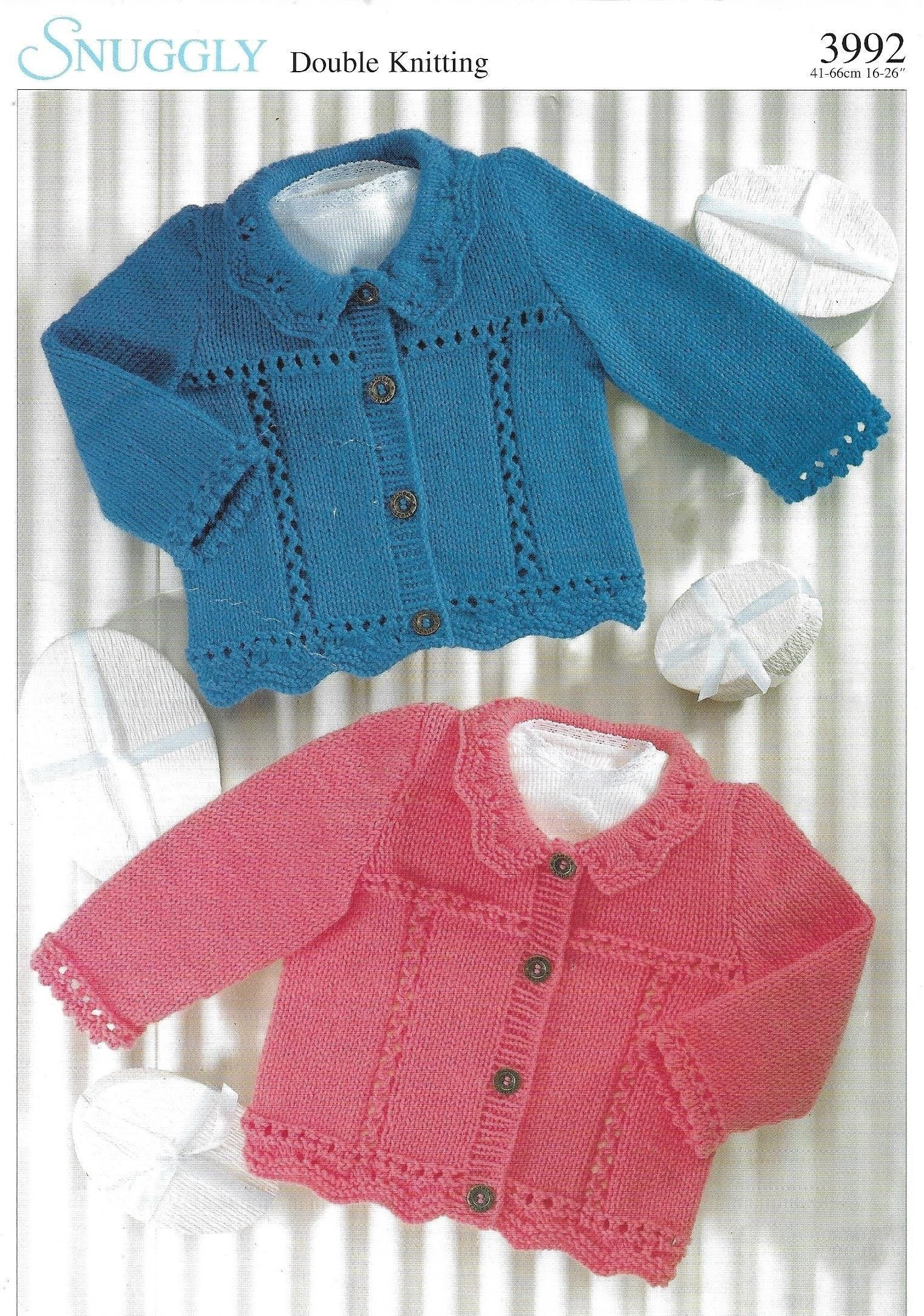 baby cardigans and sweater dk knitting pattern 82
