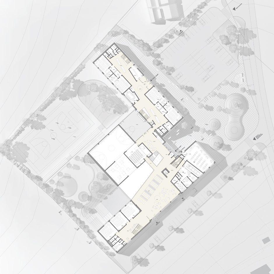 architektonicka soutez na novou zakladni skolu pro psary a dolni  elementary schools
