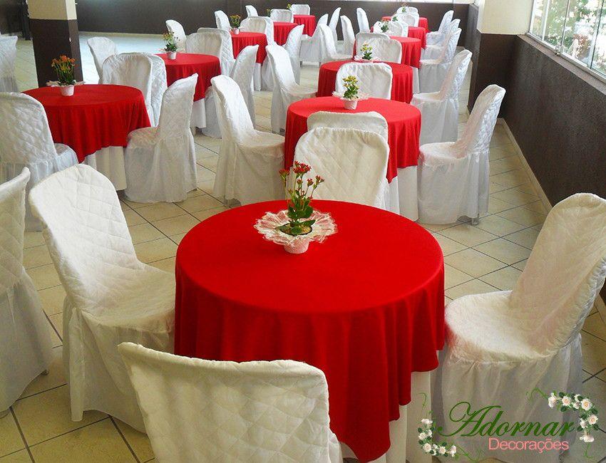 DECORA u00c7ÃO DE CASAMENTO VERMELHO E BRANCO Aluguel Decoraç u00e3o de Casamento em Provençal Vermelho e  -> Decoração De Casamento Simples Com Tnt Vermelho E Branco