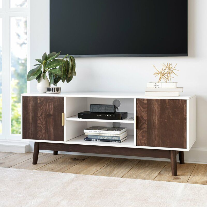 Gallaway Tv Stand For Tvs Up To 49 In 2020 Scandinavian Tv Stand Tv Stand With Storage Wooden Tv Stands
