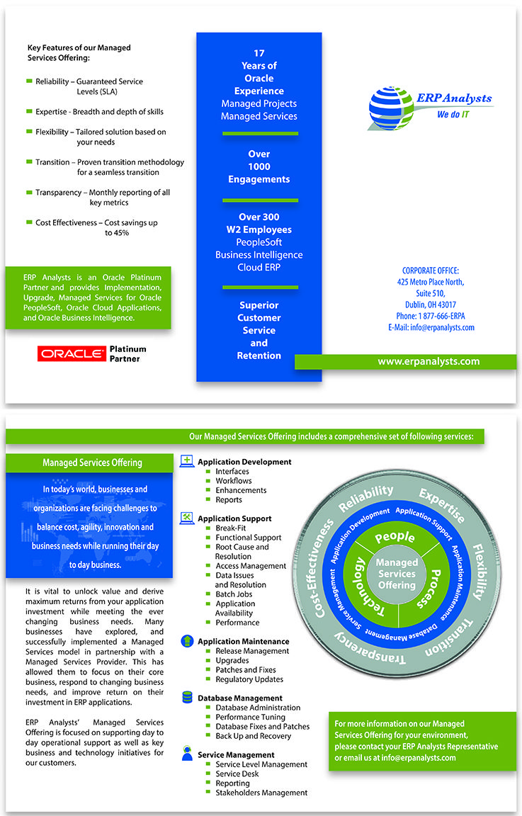 Brochure For Erp Company Service Awards Design Working Company