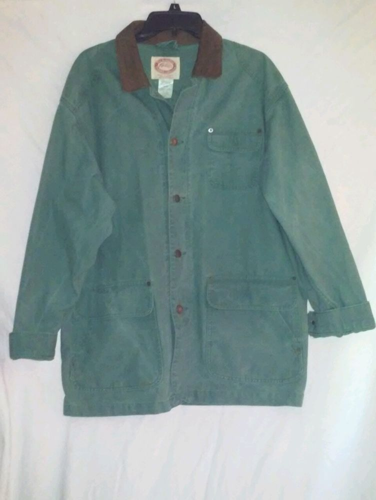 The Australian Outback Collection Green Hunting Jacket Leather Trim