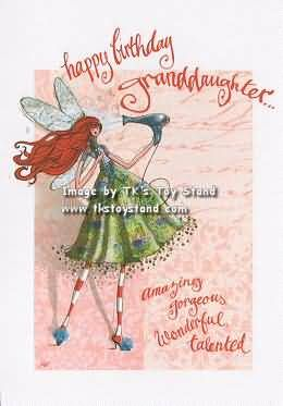 Sparkle Fairy Greeting Birthday Wishes For Granddaughter