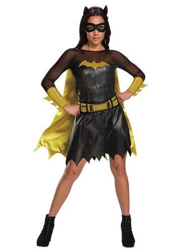 Womens Adult Batgirl Batman Deluxe Black Satin Lined Cape