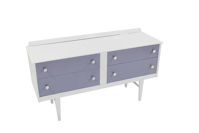 this beautiful high gloss pale grey and white piece could multi task as a sideboard or chest of drawers - your choice!