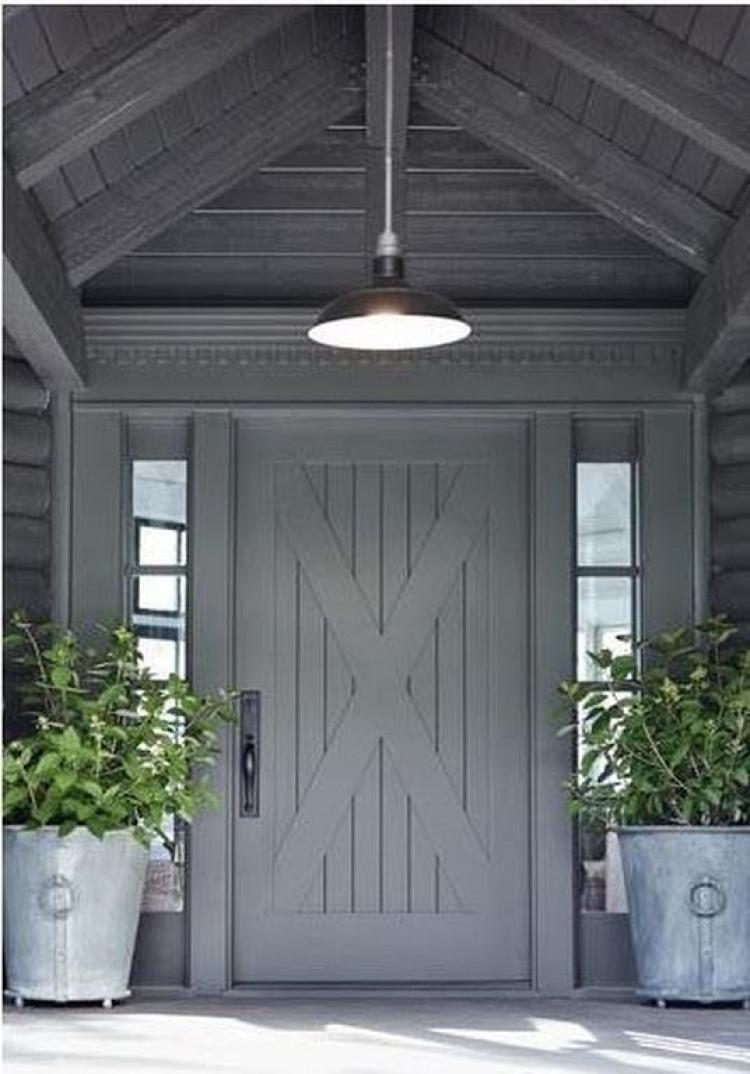 Modern Farmhouse Lighting Ideas Exterior Sliding Barn Doors Entry Front Entryway