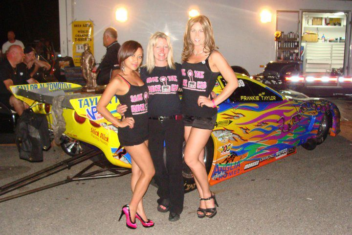 Cindy Taylor at Martin, MI showing her support with Melinda and Mia. 20111
