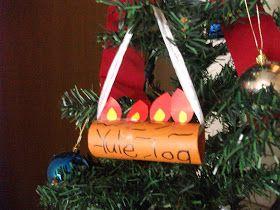 Preschool Crafts For Kids Easy Yule Log Ornament Craft For Kids