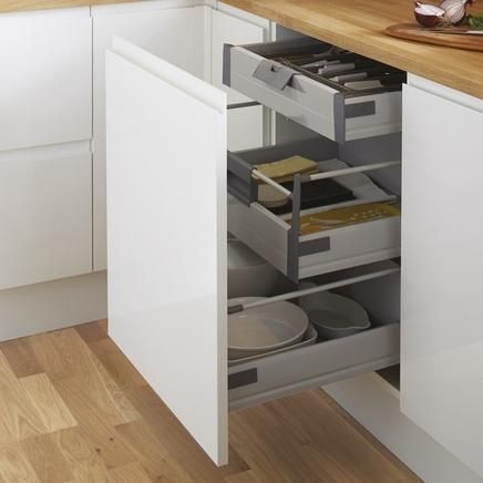 Internal soft close 3 drawer base unit patrick for Kitchen base unit shelf