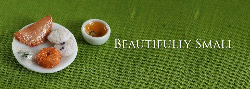 Miniature south indian breakfast - For more miniature food, visit - www.charmingminiatures.com.