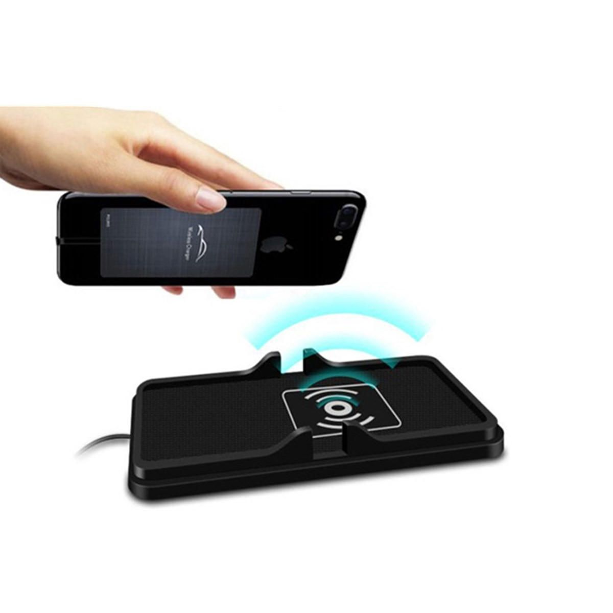 Q I Wireless Non Slip Car Dashboard Holder Fast Charging Mount Universal Qi Charger Receiver Reveres Port For Smartphone Samsung S8