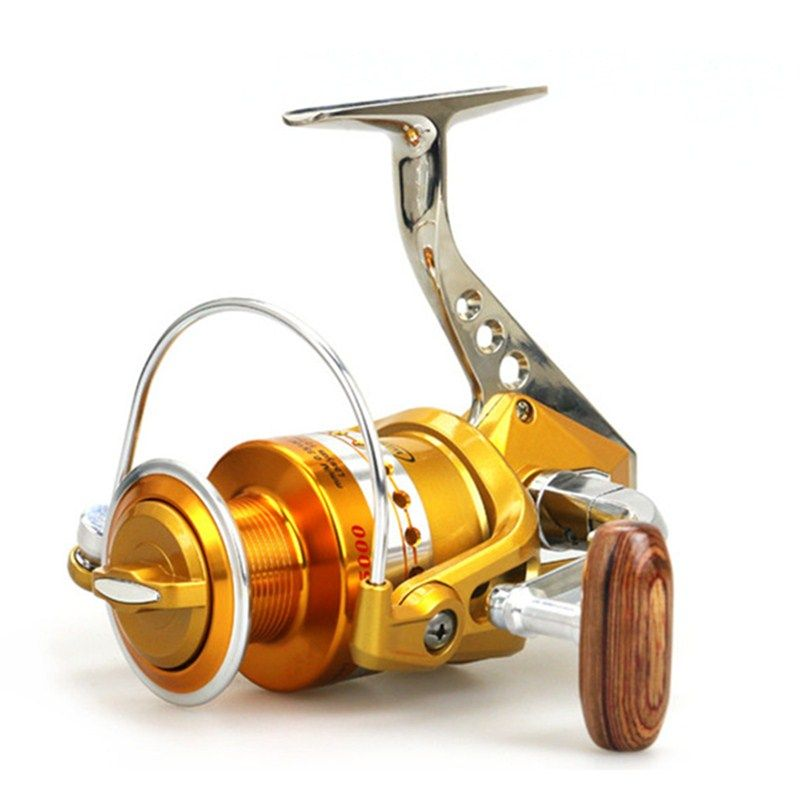 1000-7000 Series High quality full metal wheel seat fishing reel Spinning Reel Sea Rod Wheel baitcasting reel fishing for crap
