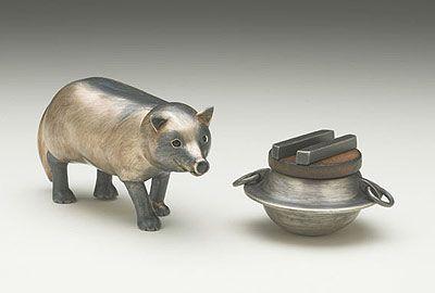 Racoon Dog & Rice Pot   Rie Taniguchi