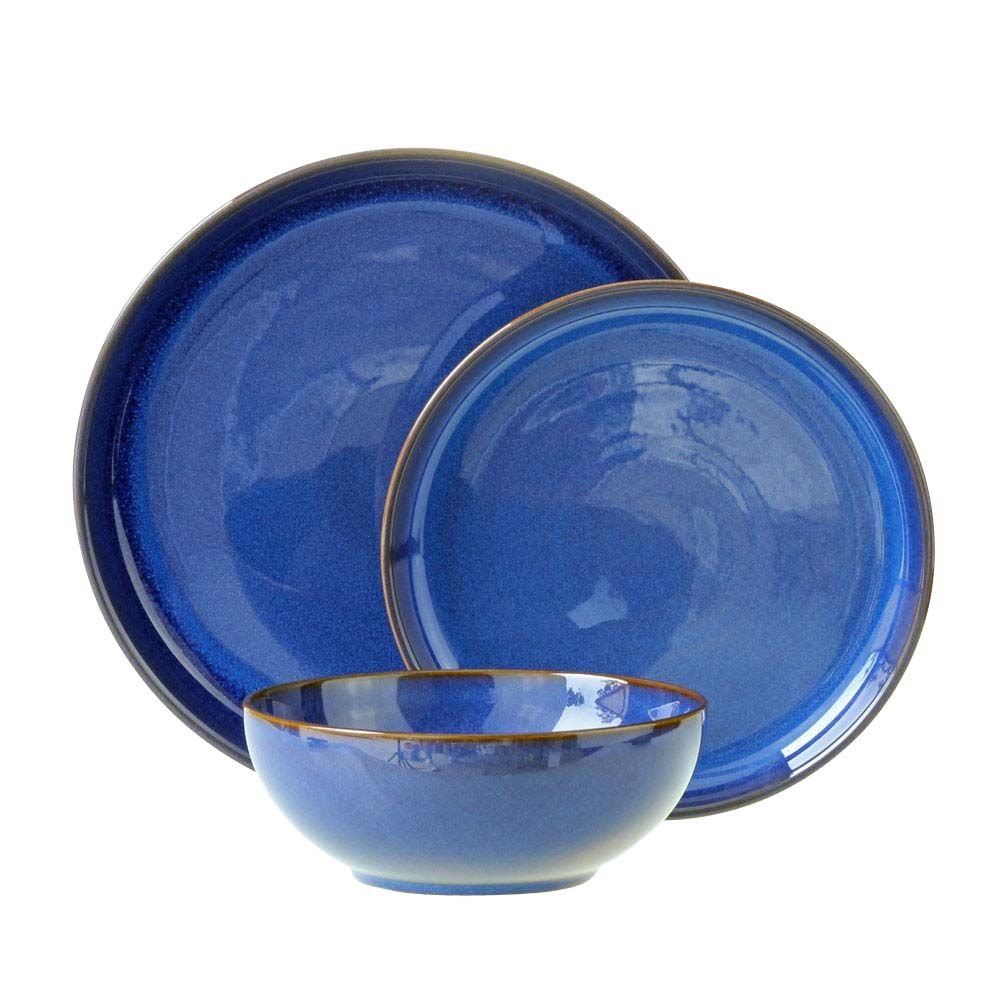 Denby Imperial Blue 12 Piece Breakfast Set Perfect For Mothers
