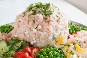 Retro Eller Sommermad Forretter Aftensmad Frokost