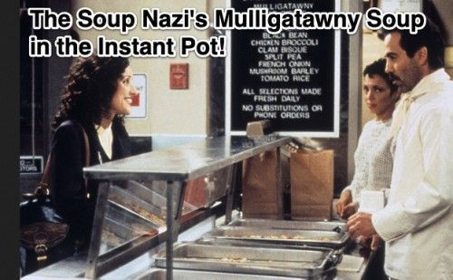 Here is the Seinfeld Soup Nazi's recipe for mulligatawny soup, reworked for the Instant Pot! Plus it's vegan and gluten-free! #mulligatawnysoup Here is the Seinfeld Soup Nazi's recipe for mulligatawny soup, reworked for the Instant Pot! Plus it's vegan and gluten-free! #mulligatawnysoup Here is the Seinfeld Soup Nazi's recipe for mulligatawny soup, reworked for the Instant Pot! Plus it's vegan and gluten-free! #mulligatawnysoup Here is the Seinfeld Soup Nazi's recipe for mulligatawny soup, rewor #mulligatawnysoup