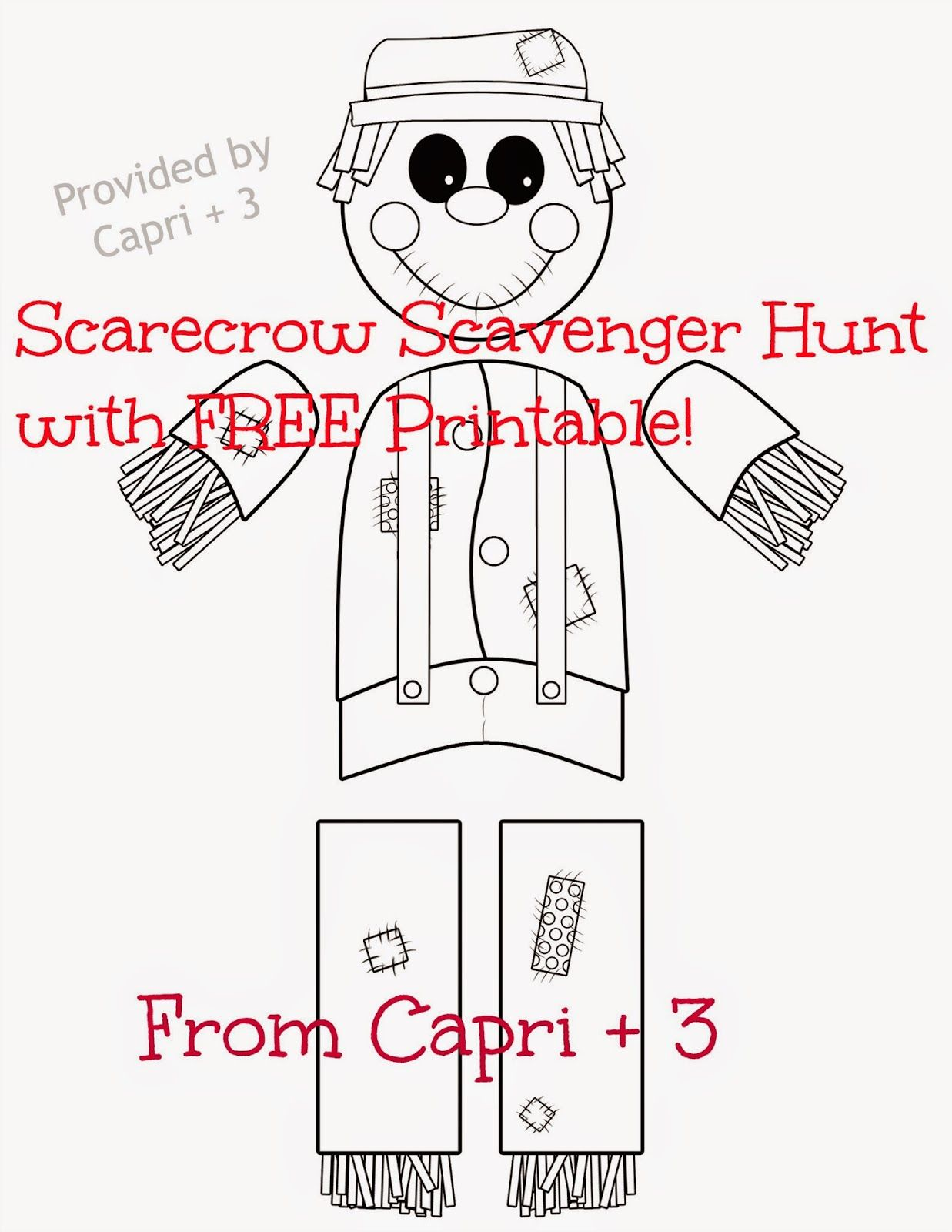 Scarecrow Hunt With Free Printable With Images
