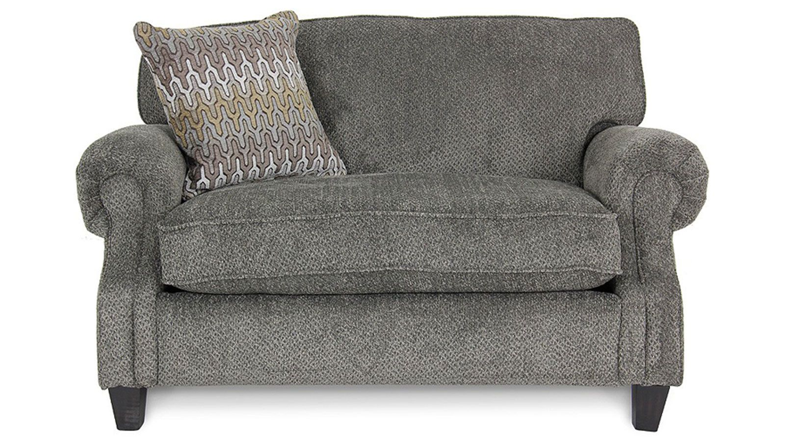 Upholstered With Velvety Pewter Fabric And Excellently Crafted In America This Sleeper Sofa