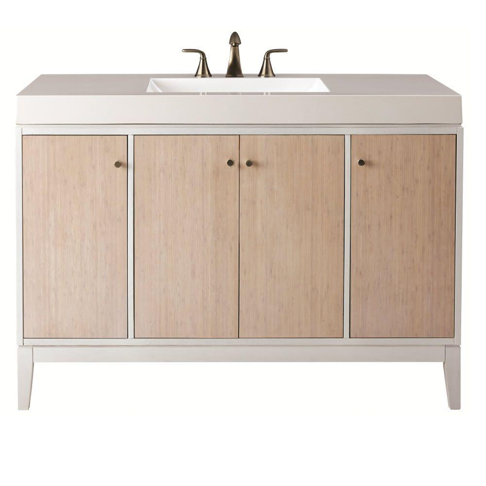 Home Decorators Collection Melbourne 49 In W X 35 In H Vanity In White With Marble Vanity Top In White With White Ba Marble Vanity Tops White Sink Vanity Top