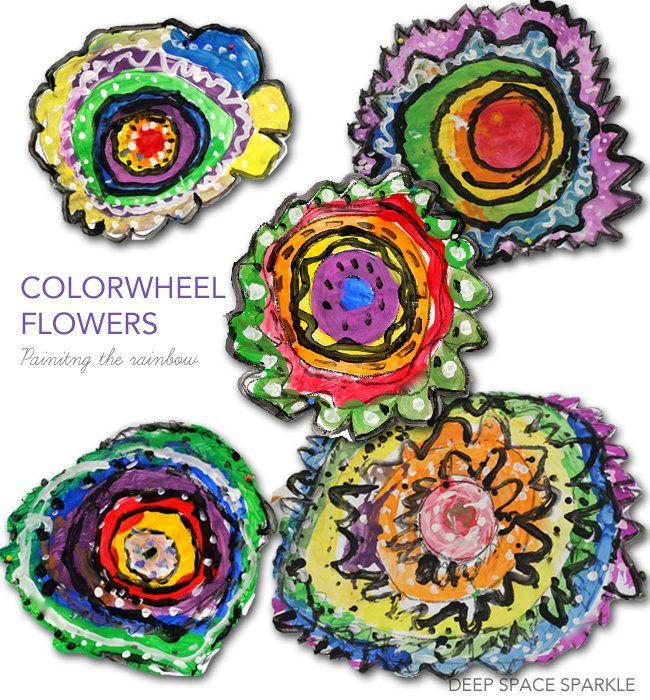Colorwheel Flowers Art Lesson