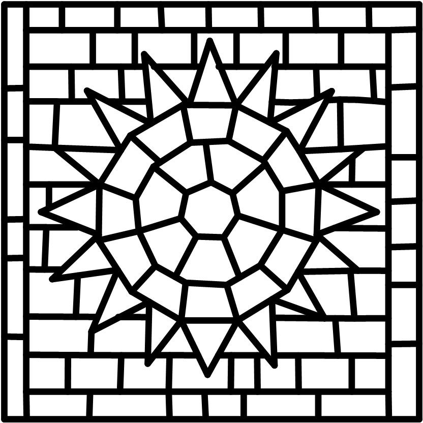 roman mosaic templates for kids - roman mosaic patterns printable sketch coloring page