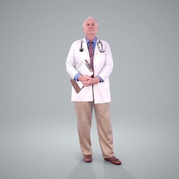 Male Doctor | WMan0200HD2O01P01S Ready-Posed 3D Human Model