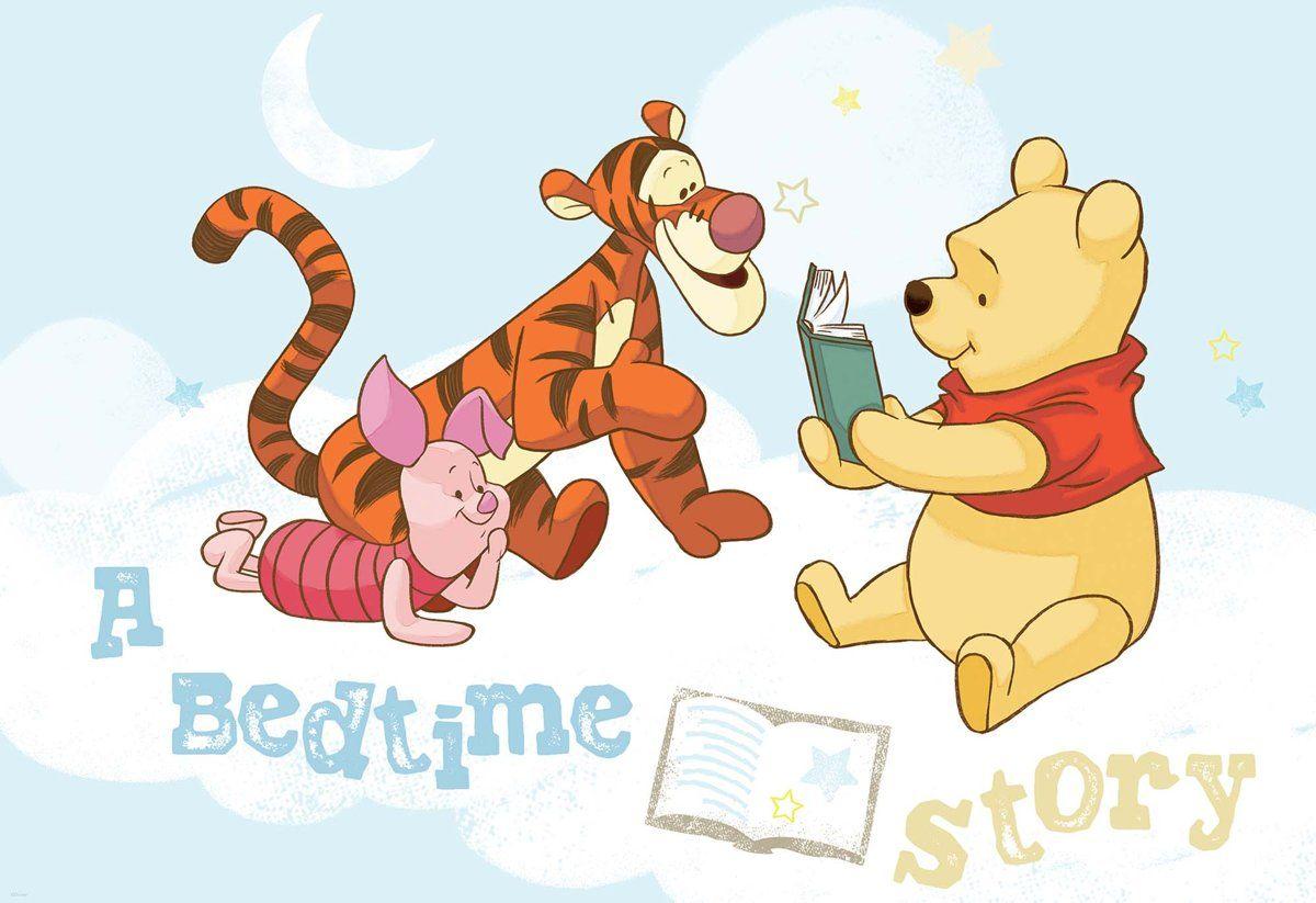 Fotobehang Disney Winnie Pooh Piglet Tigger Xxl 312cm X 219cm 130g M2 Vlies Winnie De Pooh Pooh Beer Fotobehang