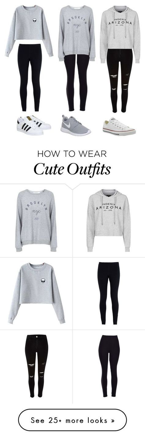 3 cute outfits by olivia-fashionhomebeauty on Polyvore featuring moda, NIKE, Chicnova Fashion, adidas, Topshop, Converse, womens clothing, women, female e woman