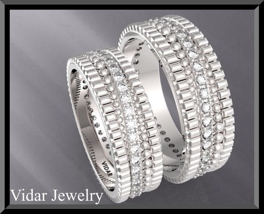 Wedding Band,Wedding Ring,His and Hers Diamond Wedding Band Set ...