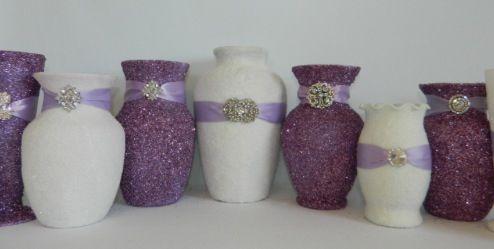 Diy Glitter Vases Someday Pinterest Glitter Vases