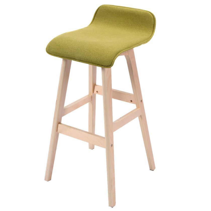 Modern Wood Linen Bar Stool Dining Counter Barstools High Chair – Bar High Chair