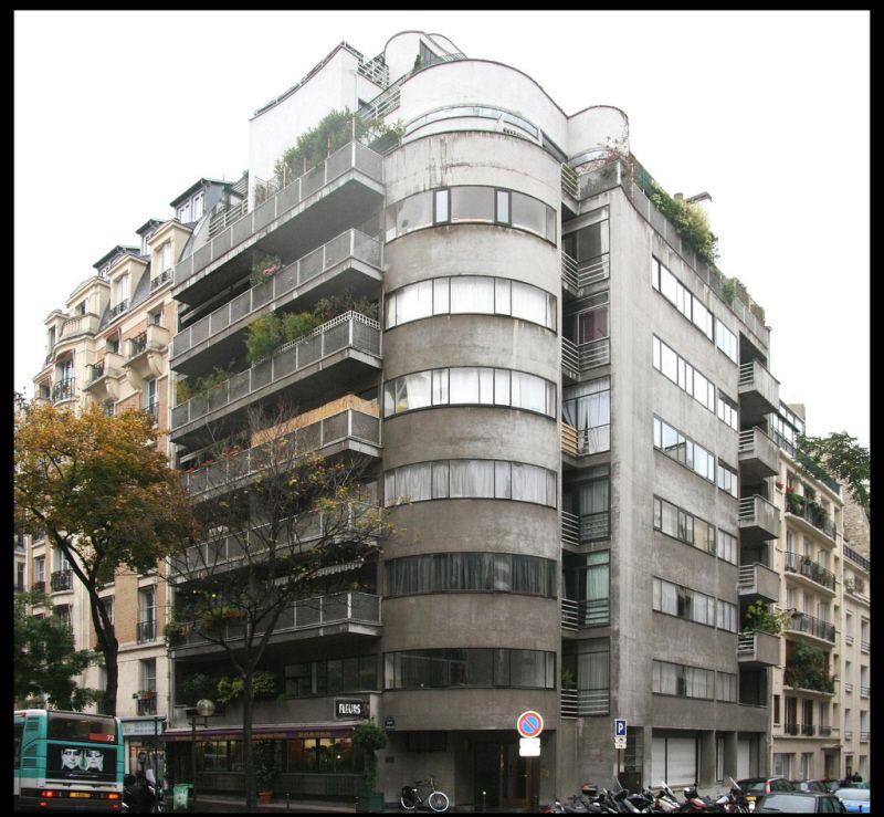 immeuble d 39 habitation 1934 42 avenue de versailles paris 75016 architecte jean ginsberg en. Black Bedroom Furniture Sets. Home Design Ideas