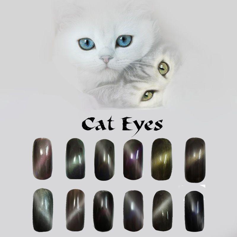 1g/box Nuevo Efecto Ojo de Gato espejo mágico Polvo Arte en Uñas ...