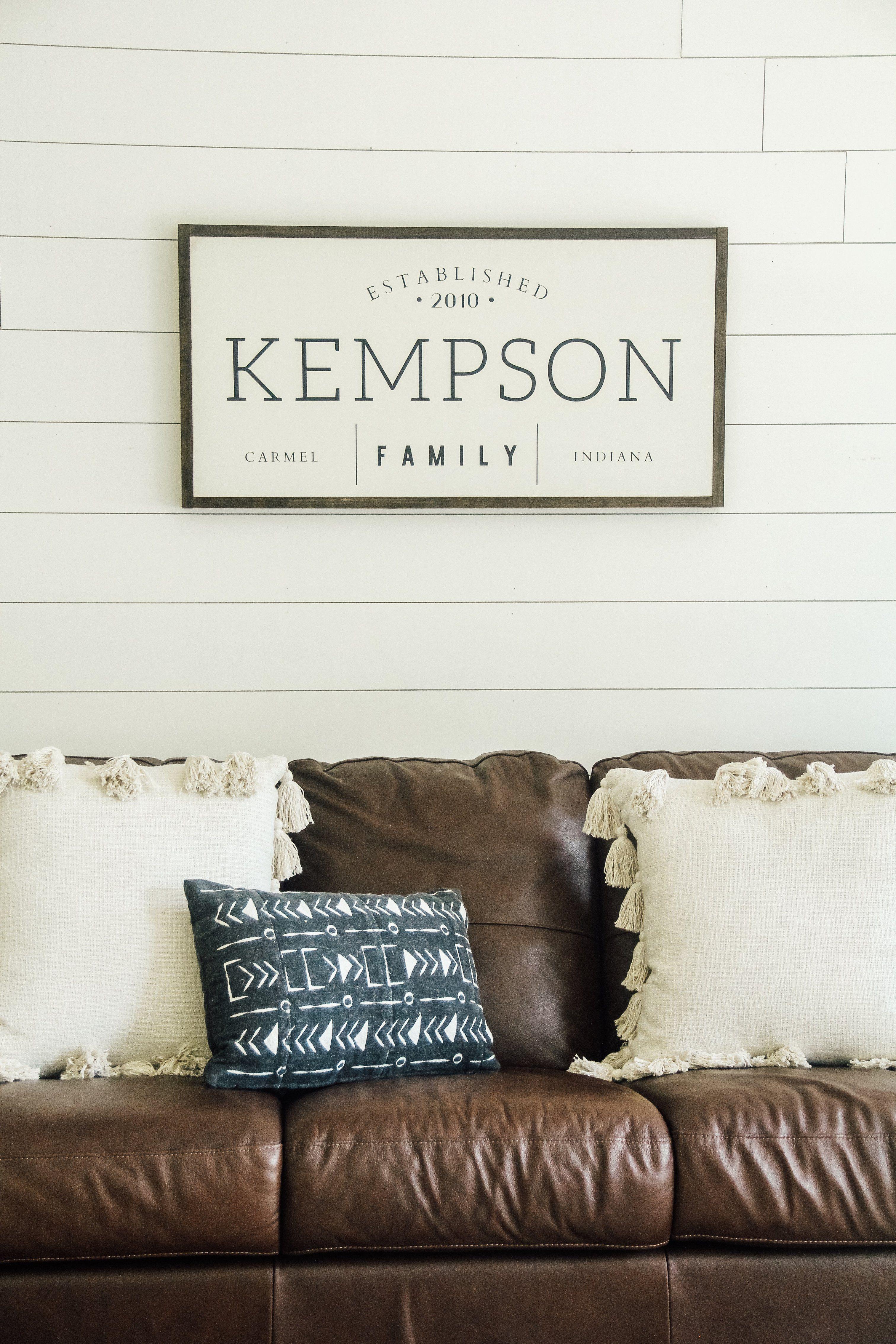 Photo of Family Established Wood Sign